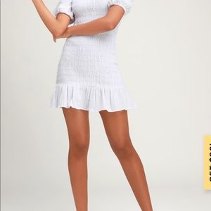 White smocked dress by The Fifth label